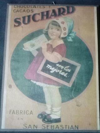 Cuadro anuncio antiguo Suchard