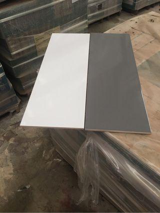 Azulejos 25x75 blanco y gris( con tara )brillo