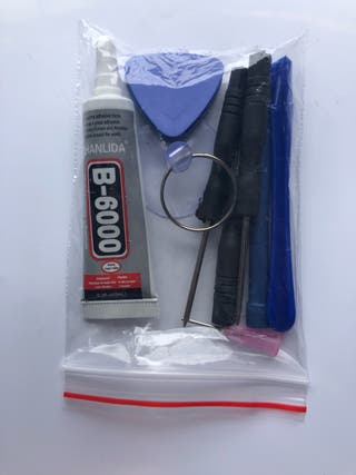 Kit de herramientas mas pegamento especial