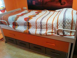 cama nido dos camas un colchon 4 cajones 300€