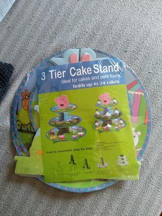 soporte cupcakes Peppa Pig