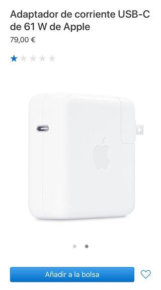 Cargador adaptador usb-c apple 61w macbook pro 13