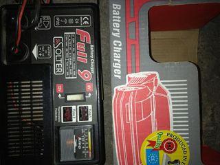 cargador de baterías, coche, motos.....
