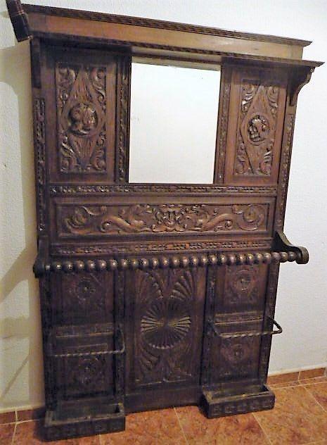 Rg antiguo gabanero bastonero recibidor de segunda mano por 175 en garg era wallapop - Wallapop muebles antiguos ...