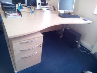 large office table - desk with chest of drawers