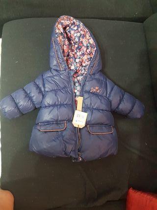 abrigo bebe niña reversible