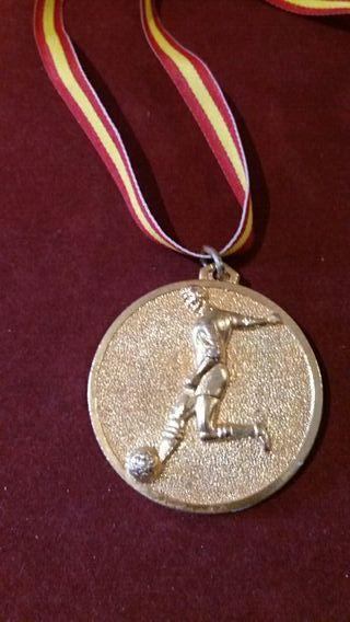 Medalla deportiva oro vintage