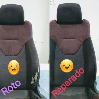Reparar asiento coche