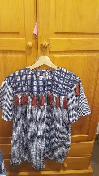 vestido bordad zara tall S