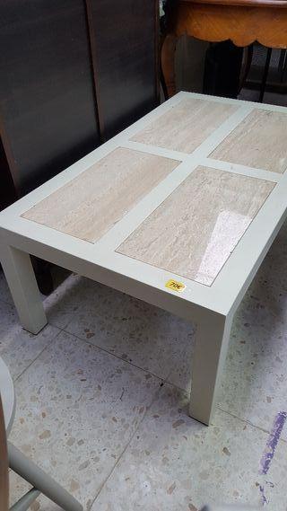 mesa de hierro y marmol