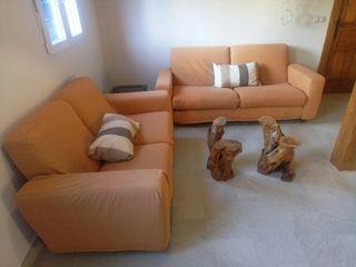 conjunto de sofás. 2 placas y 3 plazas