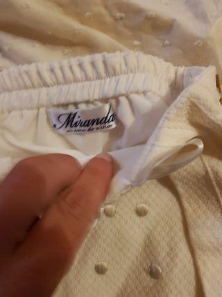 conjunto bebé ideal bautizo marca Miranda
