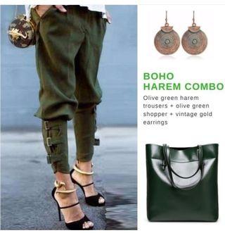 Pantalón verde militar