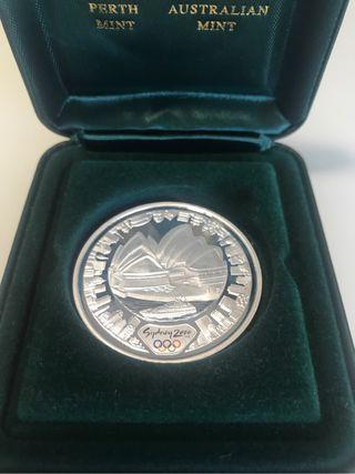 Moneda de plata de 5 $ Olimpiadas Sydney 2000
