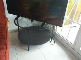 mesa baja redonda cristal