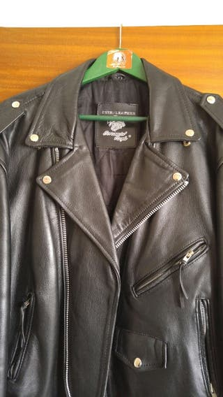 Chaqueta cuero Screaming Eagle. Motorista.