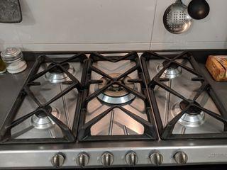 Cocina gas SMEG 5 fuegos