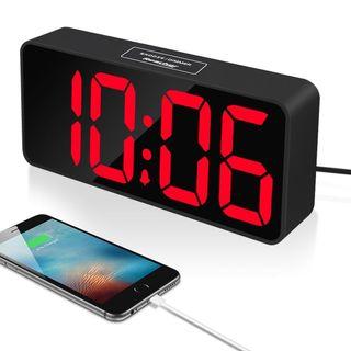 Reloj Led despertador cargador