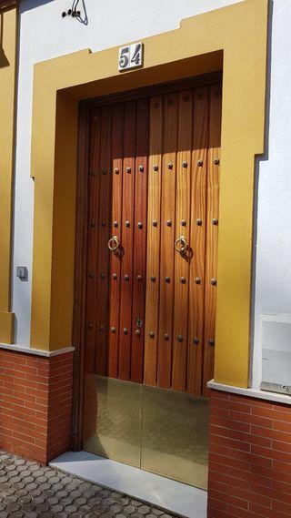 Puerta de madera de segunda mano por 190 en sevilla en wallapop - Puertas de madera en sevilla ...