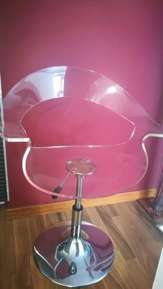 silla diseño policarbonato transparente
