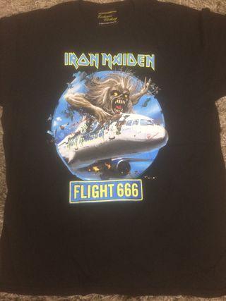 Iron maiden camiseta flight 666 talla L