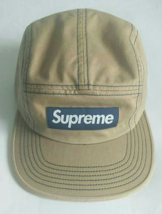 Supreme Contrast Stitch Camp Cap (SS18) - Tan