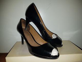 Segunda Zapatos 37 Por Negros Tacón 5 Zara Mano Charol Talla De 6Zq06