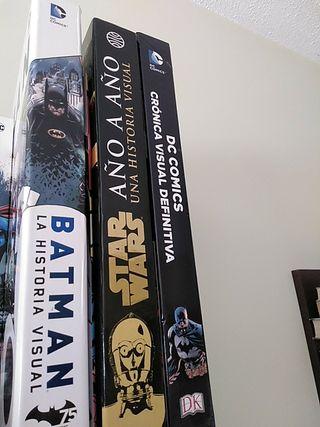 guías visuales de Batman,DC y star wars