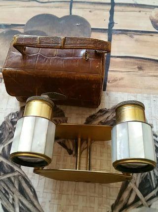 prismáticos antiguos nacar u oro