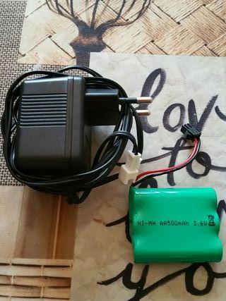 cargador y bateria 500mah 3.6v