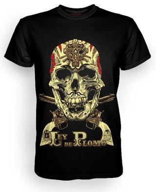 Camiseta Calavera Mexican Tattoo Rock hombre nueva