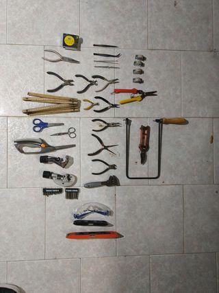 lote herramientas para modelistas o bricolaje