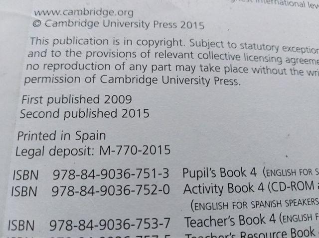 Libro inglés cuarto primaria Cambridge de segunda mano por 10 € en ...