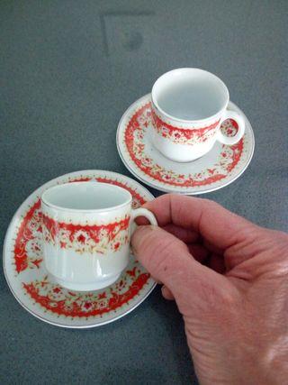 Dúo de tazas de café