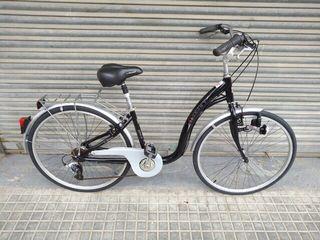 Bicicleta Monty City 7 speed negra para chica o mujer