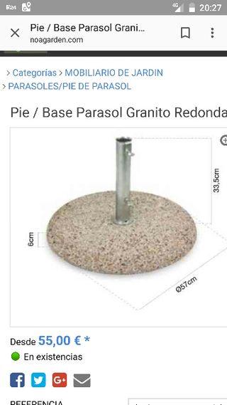 Pie - parasol de granito