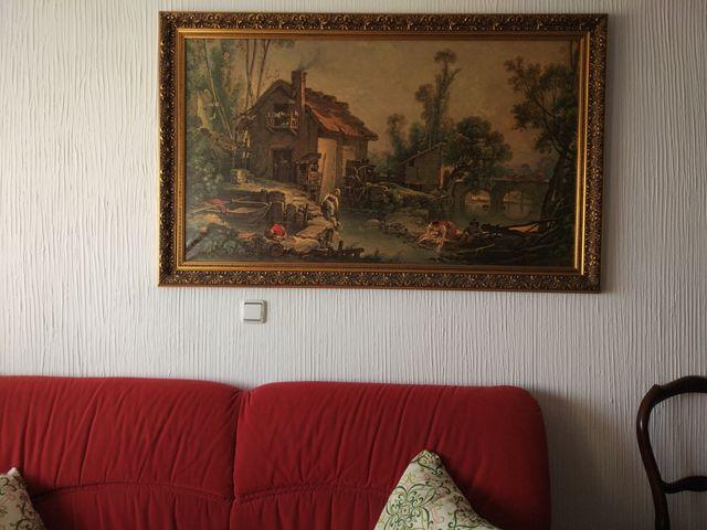 Pintura muy grande en perfecto estado con marco de segunda mano por ...
