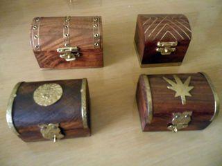 Cofres de madera pequeños