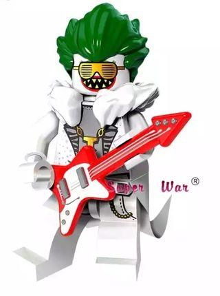 Minifigura tipo lego Jocker rock rockero
