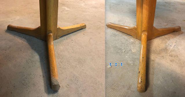 Mesa comedor redonda extensible (90 a 126) madera de segunda mano ...