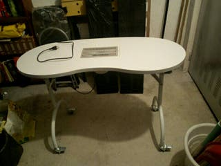 mesa de manicura pleglable