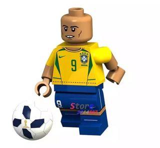 Minifigura tipo lego Ronaldo fútbol deportes