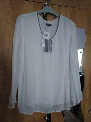 Blusa blanca larga