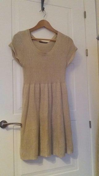 Vestido de punto color beige