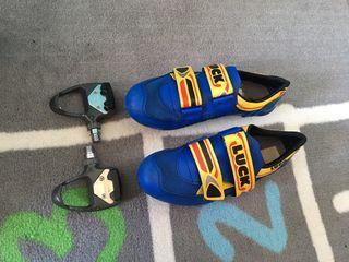 Zapatillas ciclismo carretera con pedales