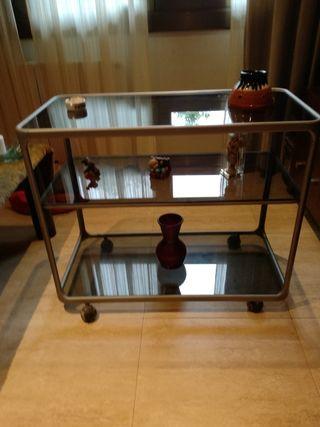 Mesa de comedor de cristal metacrilato de segunda mano por for Wallapop mesas