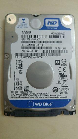 Disco Duro 2,5 Western Digital 500 Gb MUY POCO USO