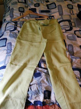 pantalón lino talla 40