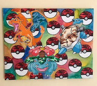 Cuadro lienzo pokemon