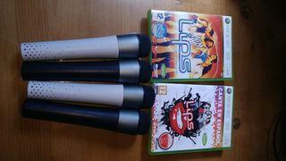 4 micrófonos, lips y lips canta en español xbox360